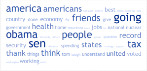 Word cloud for McCain