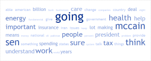Obama's word cloud